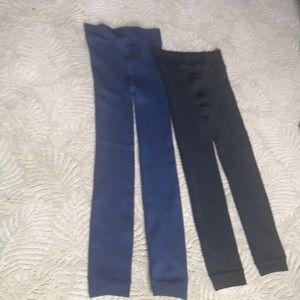 Black and blue leggings